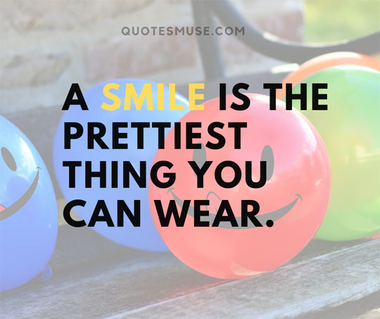 cute quotes about smile