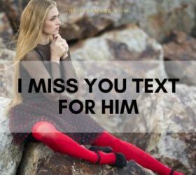 I miss you text for him