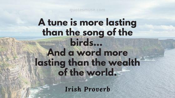 Old Irish Saying
