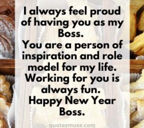 new year wishes to boss