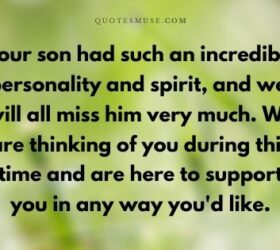 words of sympathy for the loss of a grown son